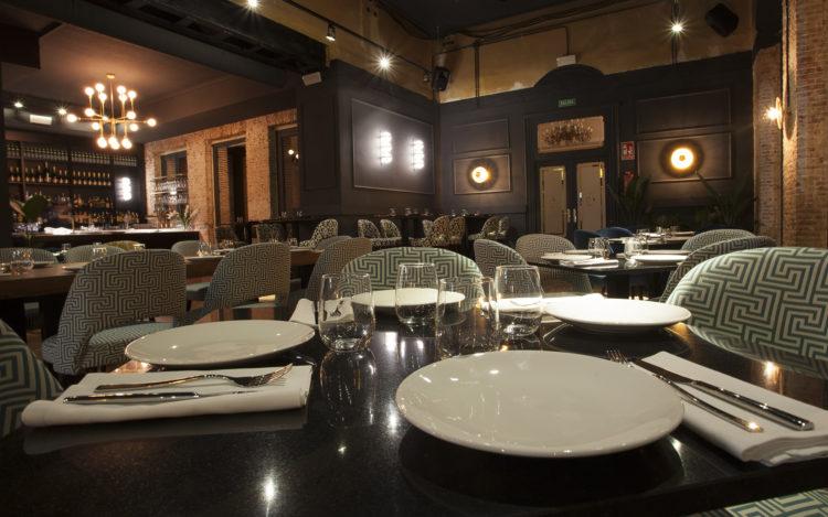 Sala restaurante Casino Alcalá, en Alcalá de Henares