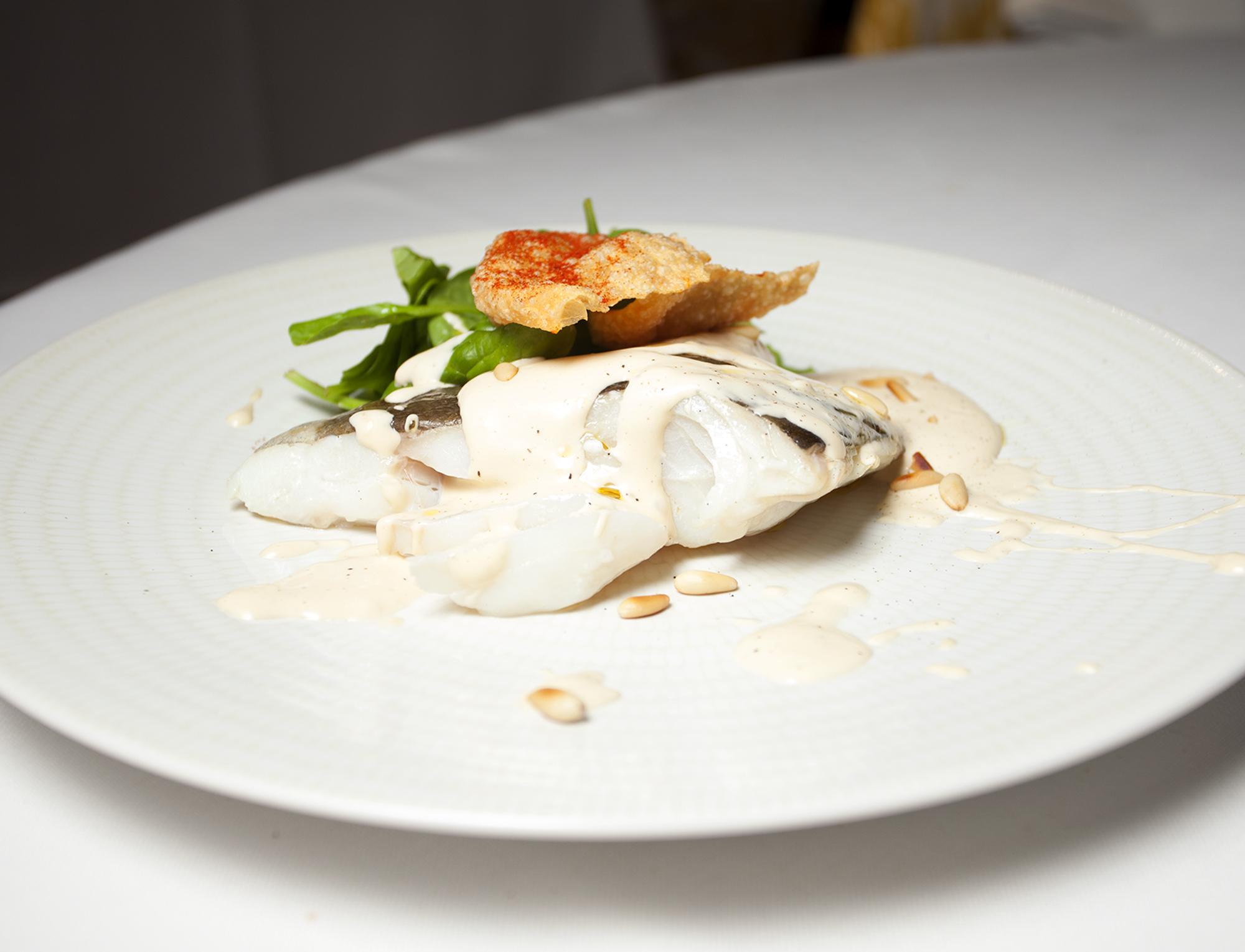 Receta pescada restaurante Casino Alcalá